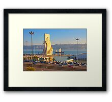 Monument to the Portuguese Discoveries. Tagus river. Lisbon Framed Print