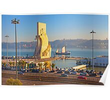 Monument to the Portuguese Discoveries. Tagus river. Lisbon Poster