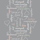 Pastel words of love by Morag Anderson