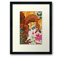 Cheeky Squirrel on Oak Framed Print