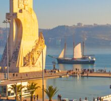 Monument to the Portuguese Discoveries. Tagus river. Lisbon Sticker
