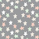 Pastel and grey stars by Morag Anderson