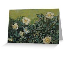 Vincent Van Gogh - Wild roses, April 1890 - May 1890 Greeting Card