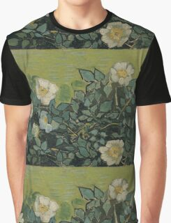 Vincent Van Gogh - Wild roses, Famous Painting. Impressionism. Van Gogh Graphic T-Shirt