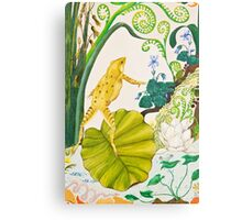Frog and Lilly Metal Print