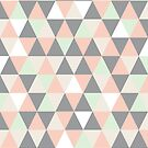 Pastel and grey triangles by Morag Anderson