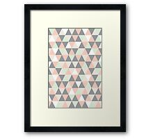 Pastel and grey triangles Framed Print