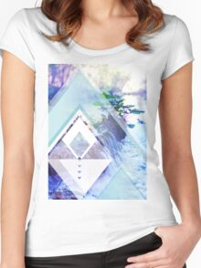 water haze Women's Fitted Scoop T-Shirt