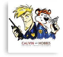 Calvin and Hobbes - PI Canvas Print