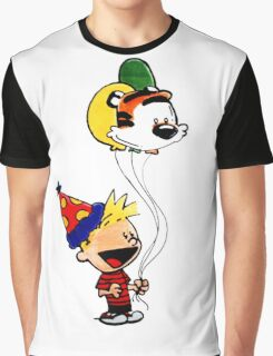 Calvin and Hobbes Party Graphic T-Shirt