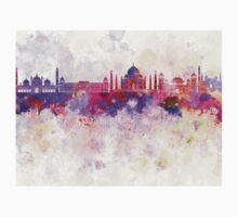 Agra skyline in watercolor background Kids Tee