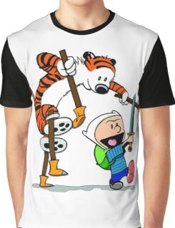 "Calvin and Hobbes ""Jake and Finn"" Graphic T-Shirt"