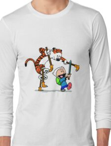 "Calvin and Hobbes ""Jake and Finn"" Long Sleeve T-Shirt"
