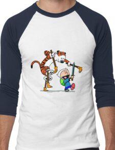 """Calvin and Hobbes """"Jake and Finn"""" Men's Baseball ¾ T-Shirt"""