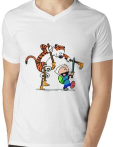 "Calvin and Hobbes ""Jake and Finn"" Mens V-Neck T-Shirt"