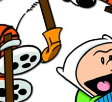 "Calvin and Hobbes ""Jake and Finn"" Sticker"