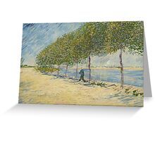 Vincent Van Gogh - By the Seine, 1887 Greeting Card