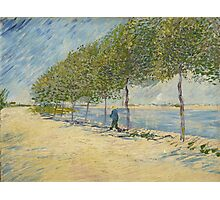 Vincent Van Gogh - By the Seine,  Famous Painting. Impressionism. Van Gogh Photographic Print
