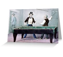 Billards, played out - 1874 - Currier & Ives Greeting Card