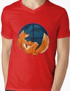 Firefox Parody Mens V-Neck T-Shirt