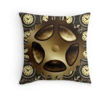 Steampunk Cog Throw Pillow