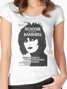 Siouxsie And The Banshees concert Women's Fitted Scoop T-Shirt