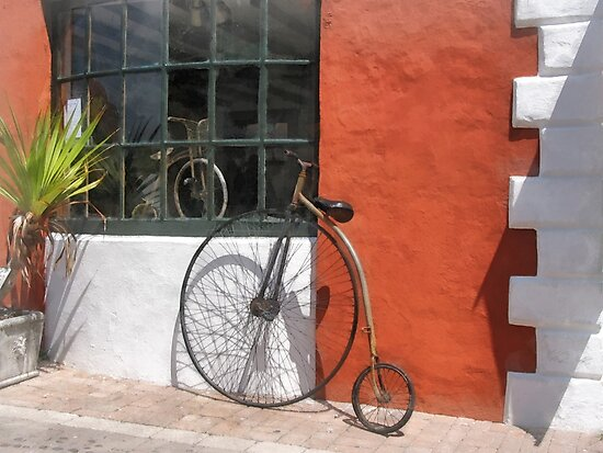 Penny-Farthing in Front of Bike Shop by Susan Savad