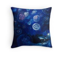 It's Jellyfishing Outside Tonight Throw Pillow