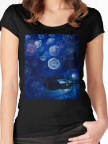 It's Jellyfishing Outside Tonight Women's Fitted Scoop T-Shirt