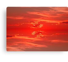 Sunset Scarlet Red 2 Canvas Print
