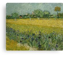 Vincent Van Gogh -Impressionism. Field with Flowers near Arles, 1888 Vincent Van Gogh Canvas Print