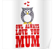 owl always love you mum Poster