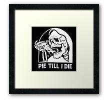 Spooky Pizza Framed Print