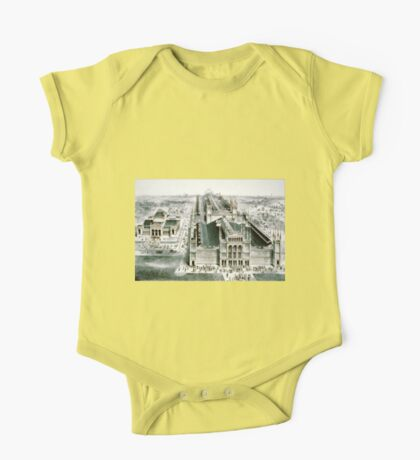 Birds eye view of the Centennial Exhibition buildings - 1875 - Currier & Ives One Piece - Short Sleeve