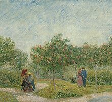 Vincent Van Gogh - Garden with courting couples square Saint-Pierre, May 1887 by famousartworks