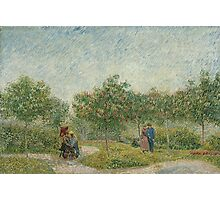 Vincent Van Gogh - Garden with courting couples square Saint-Pierre, Famous Painting. Impressionism. Van Gogh Photographic Print