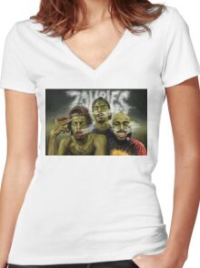 flatbush zombies 9 Women's Fitted V-Neck T-Shirt