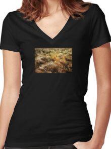 Multiple exposure Women's Fitted V-Neck T-Shirt
