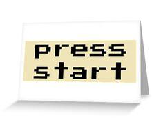 Press start - arcade game Greeting Card