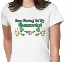 St Patrick's Day Celebrations Shamrock Variant Womens Fitted T-Shirt