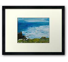 Yachts at Lands End Framed Print