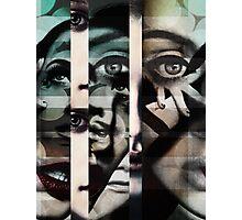 face  mash up#2 Photographic Print