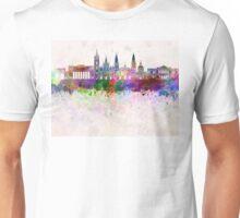 Guadalajara skyline in watercolor background Unisex T-Shirt