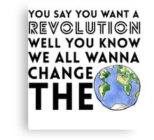 Revolution Canvas Print