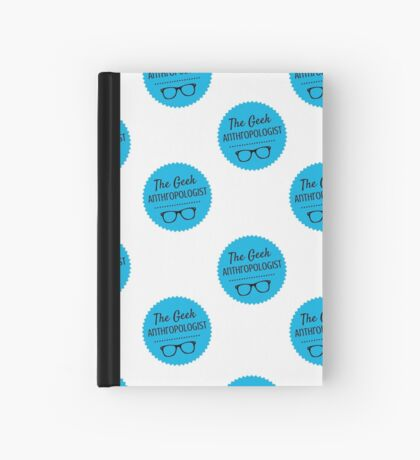 The Geek Anthropologist logo notebook Hardcover Journal