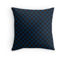 Check pattern. Checked Square. Checkered pattern. Black and blue. Checkerboard pattern. Chessboard pattern. Throw Pillow