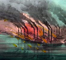 Bombardment and capture of Fort Henry, Tenn - 1862 - Currier & Ives by CrankyOldDude