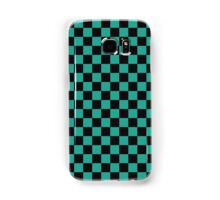 Minimalist check pattern. checkered square, Green and black. Checkered pattern.  Samsung Galaxy Case/Skin