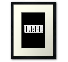 The Hollywood Outsider IMAHO Logo Framed Print