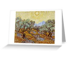 Vincent Van Gogh - Impressionism. Olive Trees, 1889 Van Gogh   Famous Painting Greeting Card